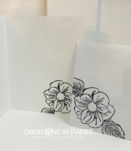 This great flower is perfect for creating a black and white card. See how I used some new paper to make this True Love Designer Series Paper Idea.