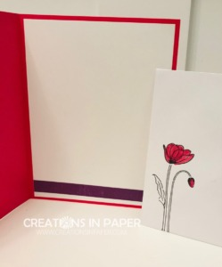 I love using this cute poppy image on my cards. See how I used it with a fun punch. Check out the Stampin' Up Rectangular Postage Stamp Punch creation.