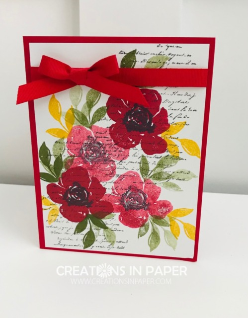 Isn't this a gorgeous floral bouquet card? The Stampin' Up All Things Fabulous stamp set makes it so easy. Watch the video to see how to get lots of depth and interest on your card.