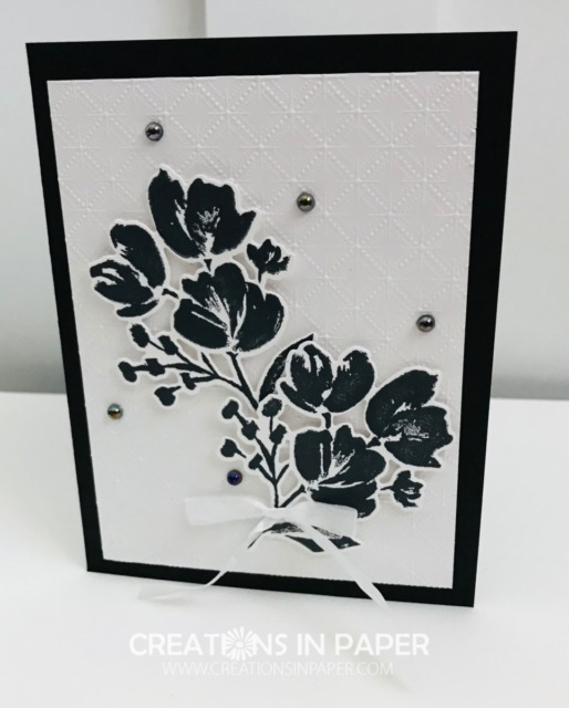 Don't you love the elegant look of black and white? Check out the Art Gallery Stamp From Stampin' Up Idea to see this beautiful card and the video for how to create it.