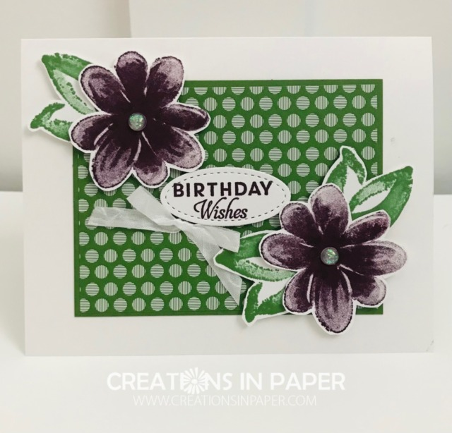 Need a quick birthday card? Using the layout for the Gorgeous Posies Birthday Wishes is a great one that is quick and easy. Check out all the details for this great birthday card.