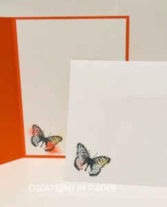 This butterfly is the perfect accent for my card front. Check out the Color Blending Brushes to Create a Frame idea.