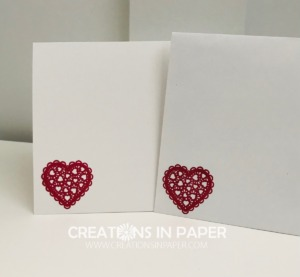 These lacy hearts are perfect to decorate the inside of your Valentine card and your envelope. Make sure you check out the Handmade Valentine Card Idea to see how I used a nontraditional color along with tradtional ones for an elegant Valentine card.