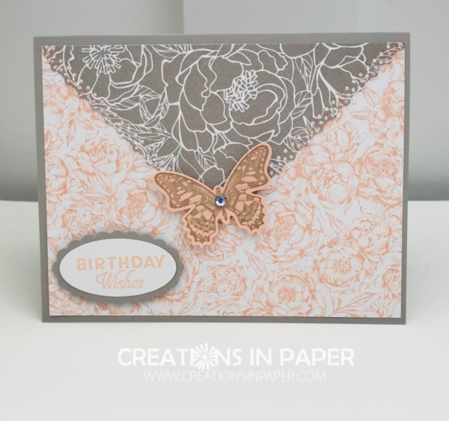 Isn't this a great lady's card? See how I created the Birthday Card Idea Using Ornate Layers Dies to make that triangle element.