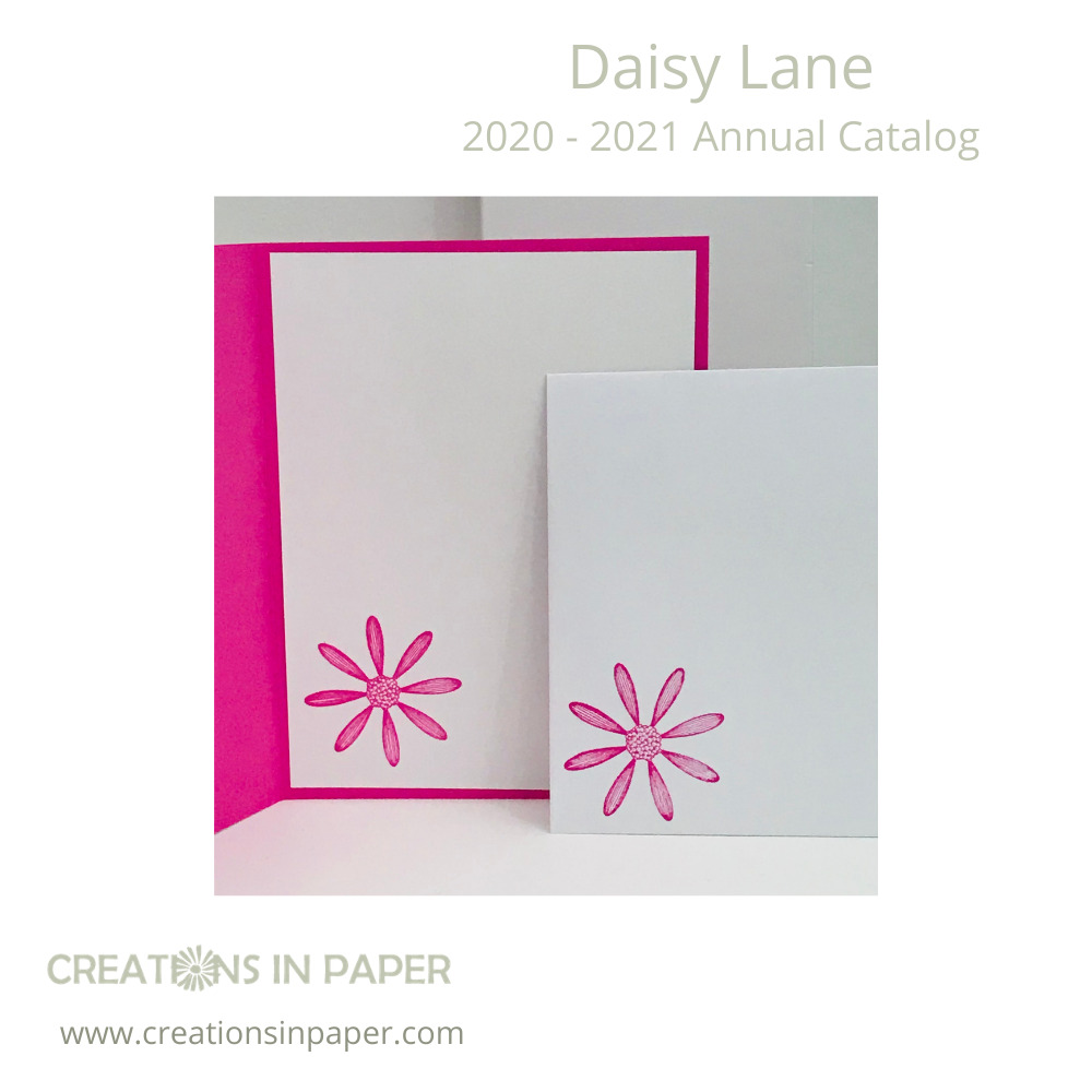 The daisy image is perfect for the inside of this Spring Card Making idea. Check it out to see the card front.