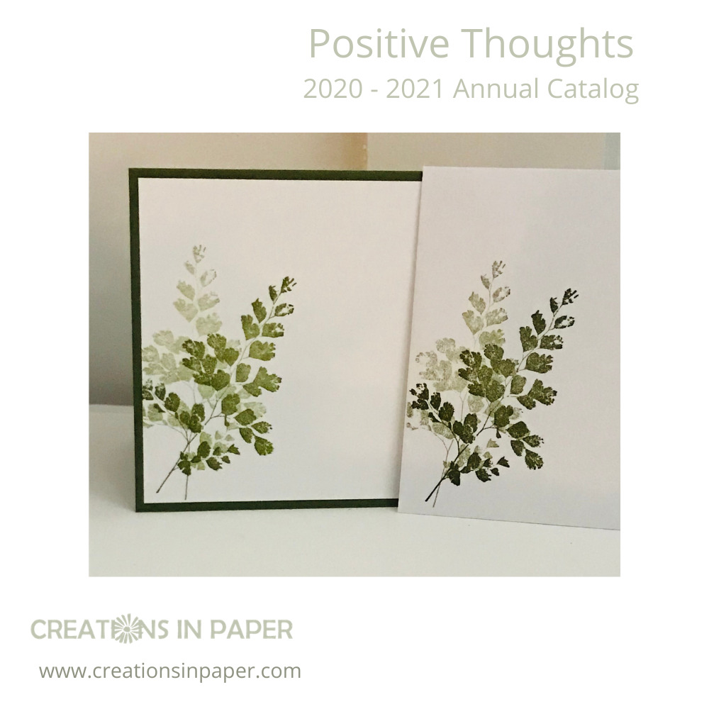 This beautiful fern image is perfect for a pop of color on a card front. See how Using Patterned Paper in Card Making can create a beautiful masculine card.