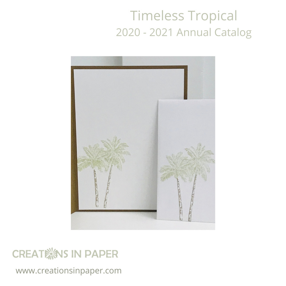 These palm trees welcome you to a trip to a tropical island. Don't miss the Tropical Greeting Card idea you can use for the guy in your life!