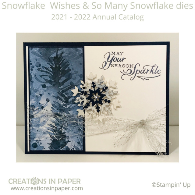 Snowflake cards are my favorite cards to make for Christmas.  This beautiful Handmade Christmas Greeting Card uses the Beauty of the Earth pattern paper as the inspiration for the card.