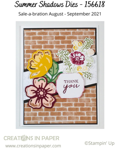 The Summer Shadows dies are perfect for making this Thank You Card Making Idea so cute.  Wouldn't you love to get this in the mail?
