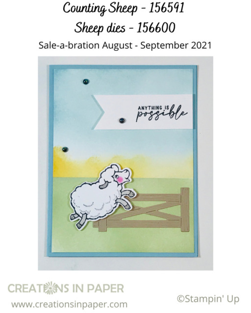 Look at this fun Handmade Encouragement Card!  The blended background sets the scene for the images.  See the details for the list of products used.